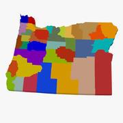 Mapa hrabstwa - Oregon 3d model