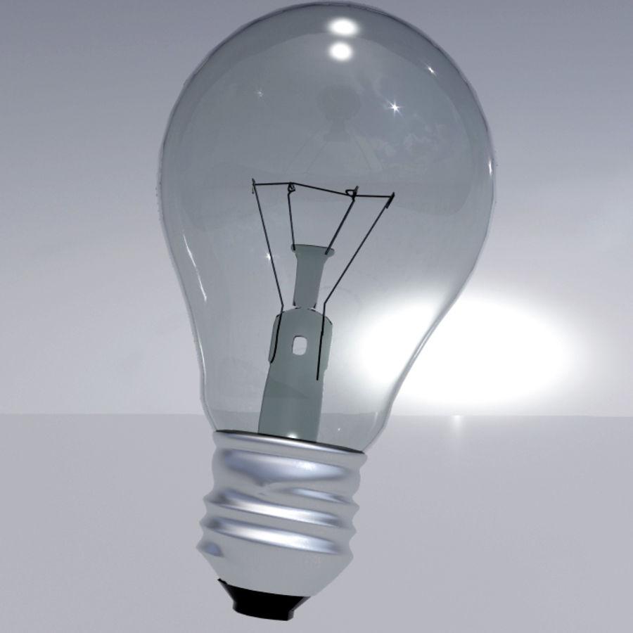 Bombilla de luz royalty-free modelo 3d - Preview no. 3