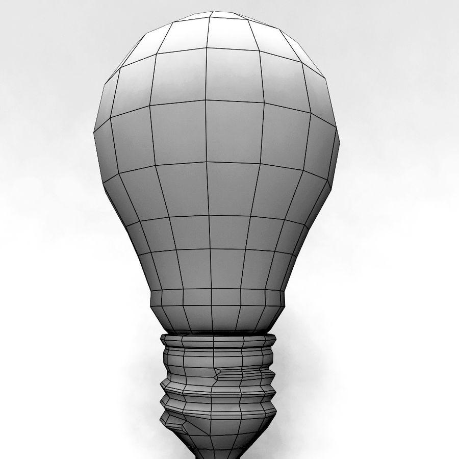Bombilla de luz royalty-free modelo 3d - Preview no. 6