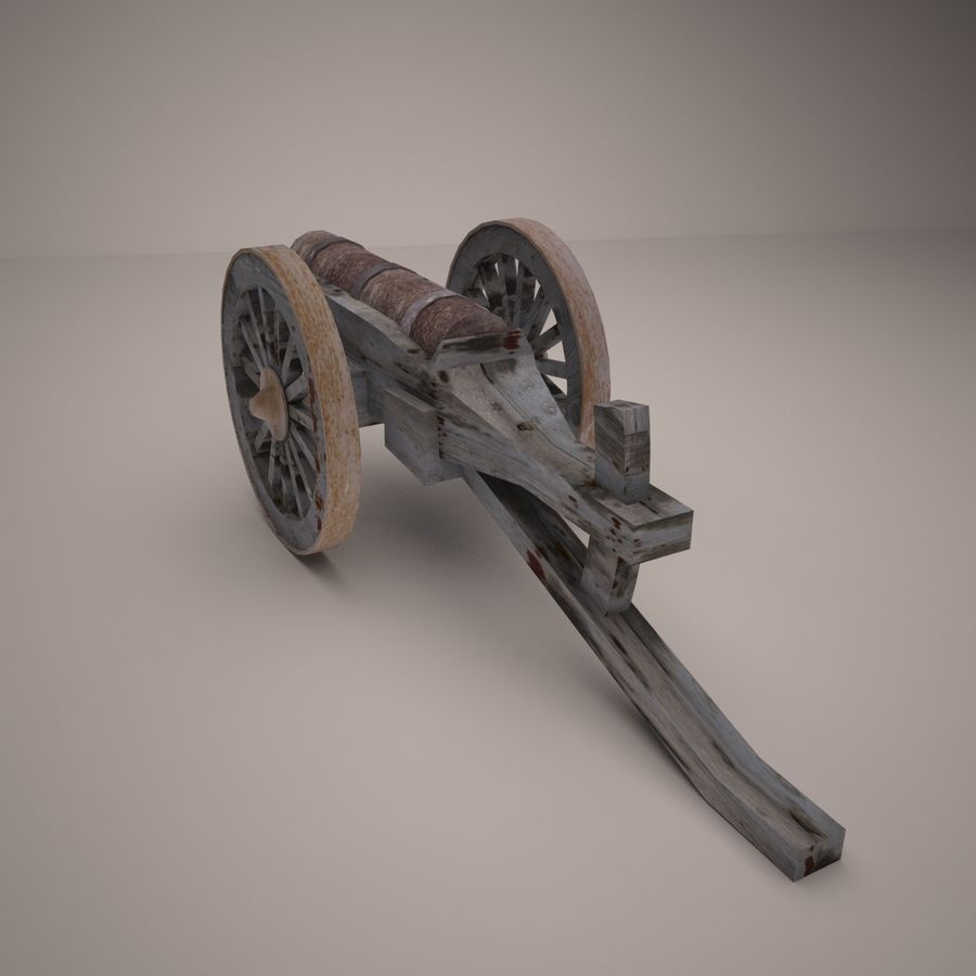 medieval canon royalty-free 3d model - Preview no. 4