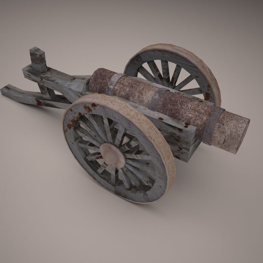 medieval canon royalty-free 3d model - Preview no. 2