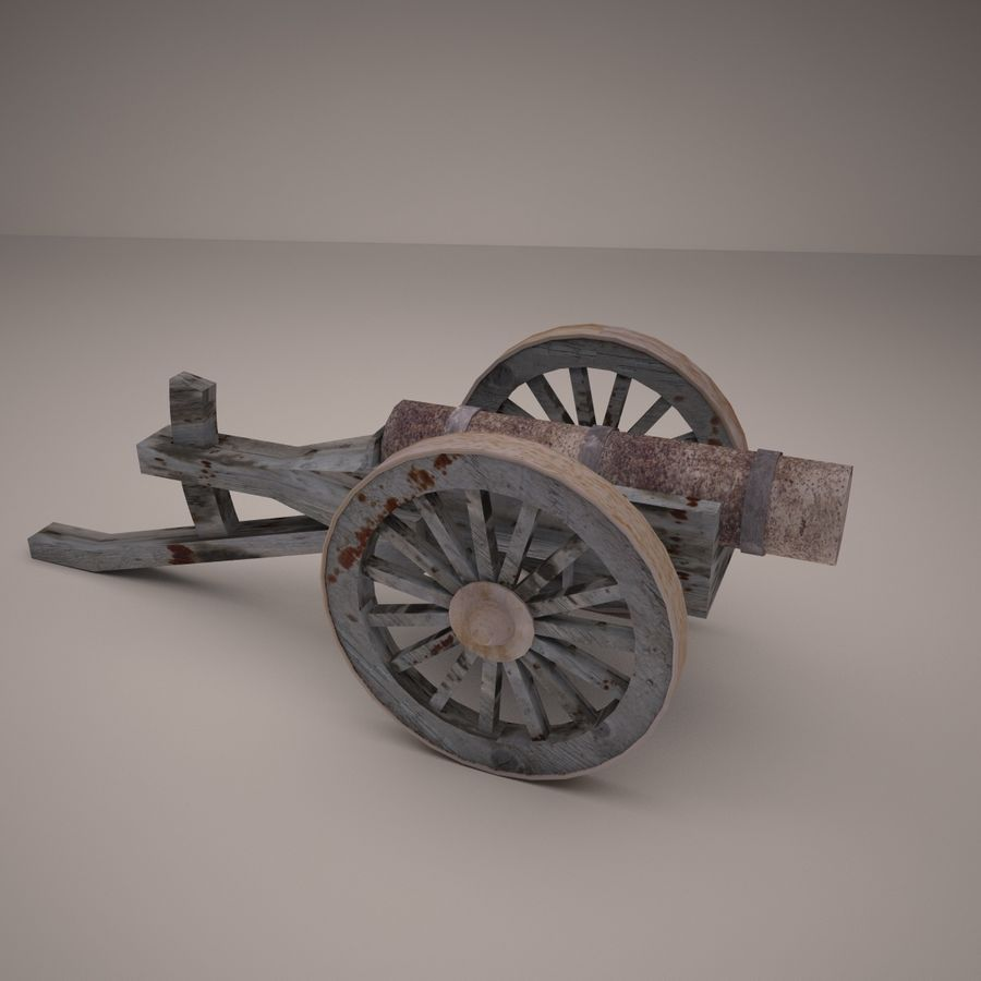 medieval canon royalty-free 3d model - Preview no. 6