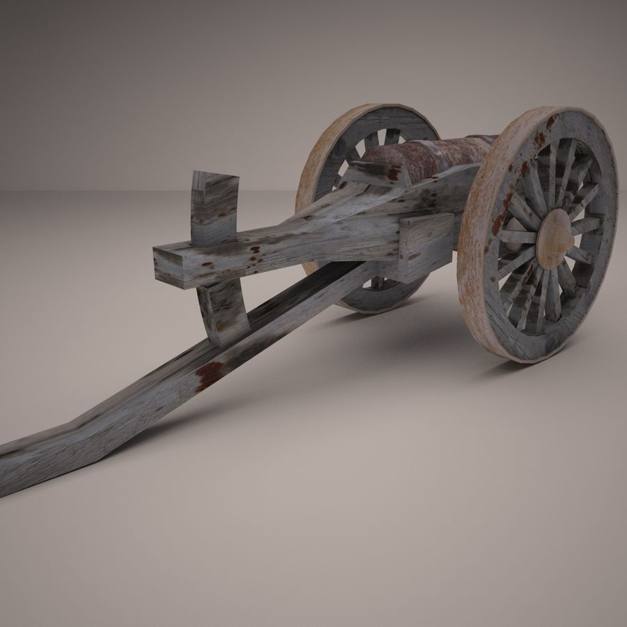 medieval canon royalty-free 3d model - Preview no. 5