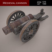 medieval canon 3d model