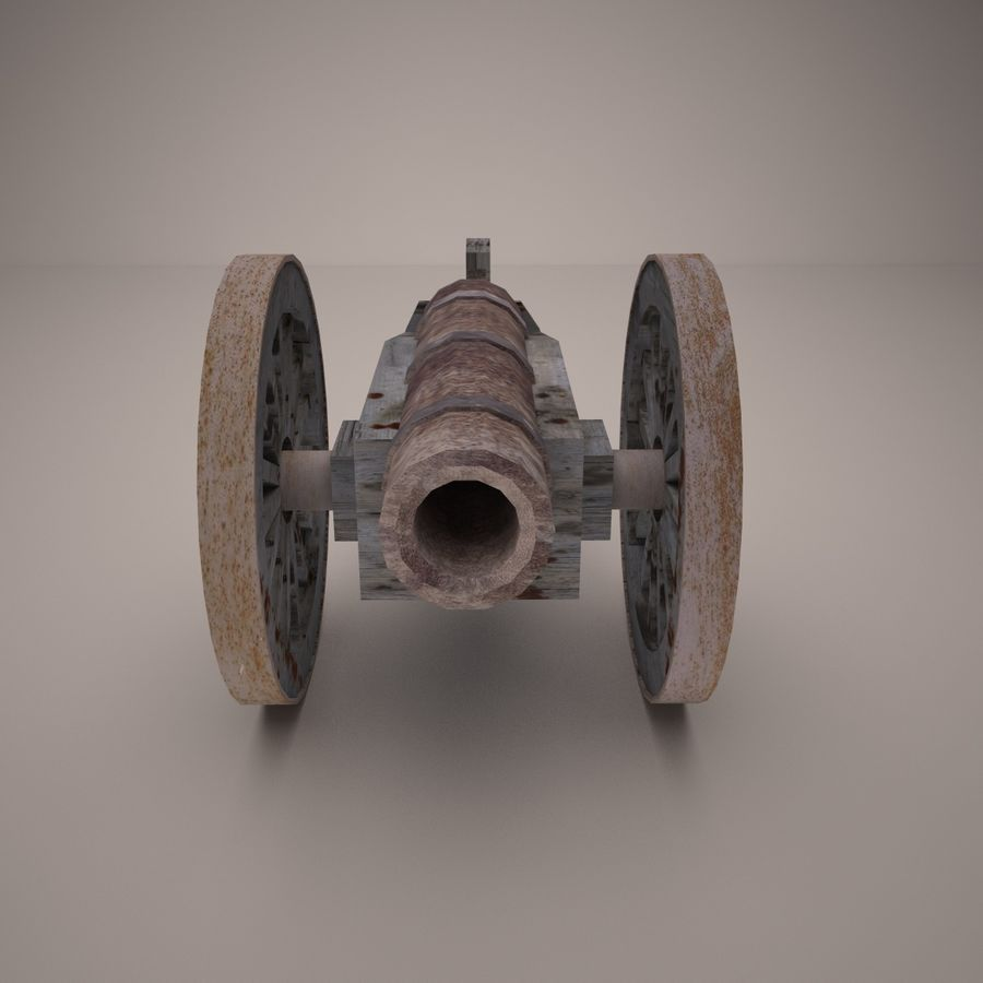 medieval canon royalty-free 3d model - Preview no. 3