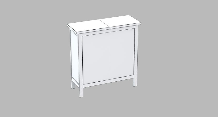Ikea Hemnes Kommode royalty-free 3d model - Preview no. 5