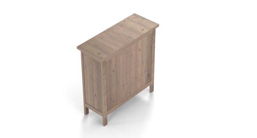 Komoda Ikea Hemnes royalty-free 3d model - Preview no. 2