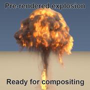 ateş topu patlaması önceden işlenmiş 3d model
