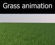 Grama animada 3d model