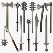 Medieval Weapon Collection 3d model