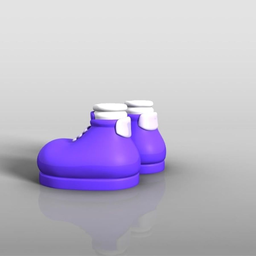 cartoon_shoes royalty-free 3d model - Preview no. 5