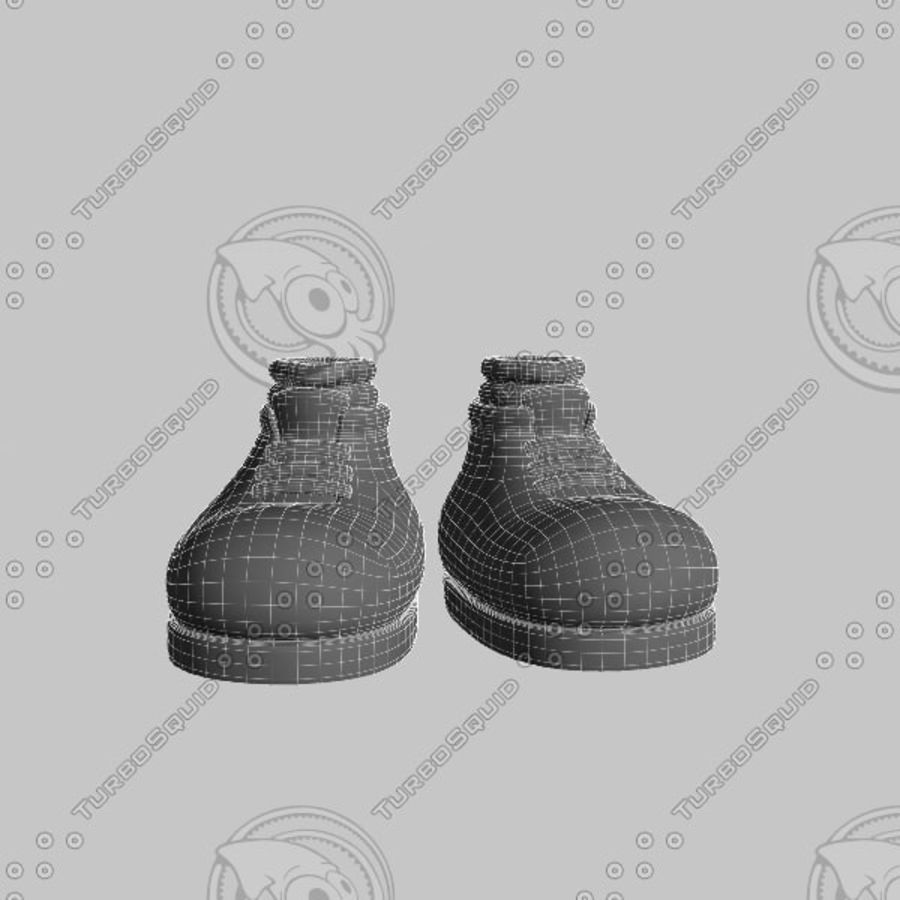 cartoon_shoes royalty-free 3d model - Preview no. 8