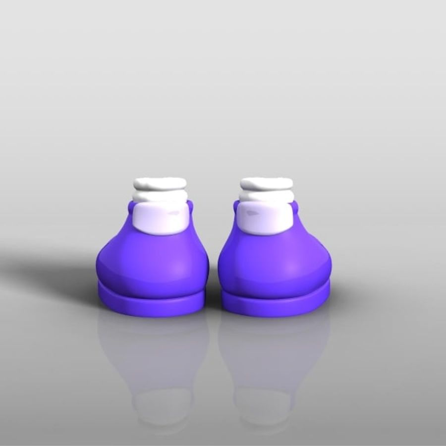 cartoon_shoes royalty-free 3d model - Preview no. 4