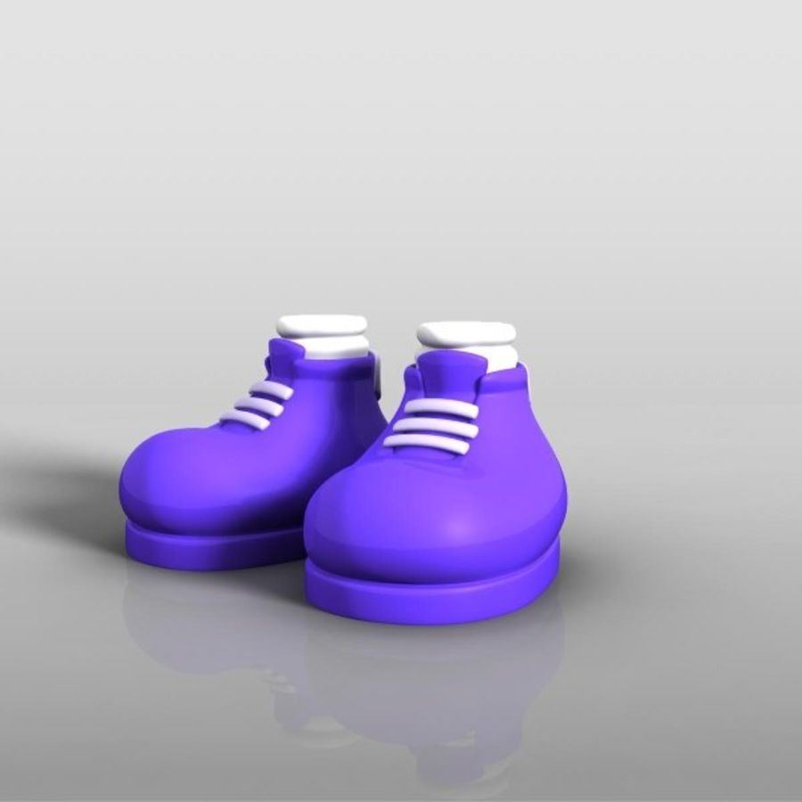 cartoon_shoes royalty-free 3d model - Preview no. 6