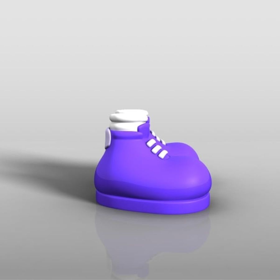 cartoon_shoes royalty-free 3d model - Preview no. 3
