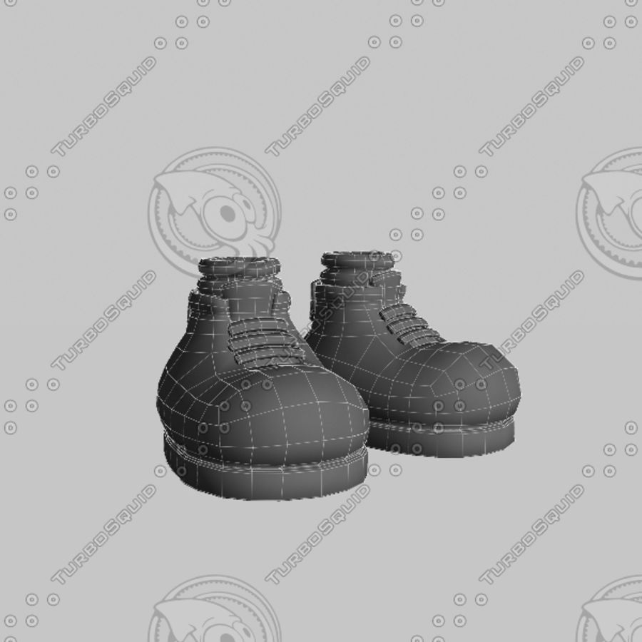 cartoon_shoes royalty-free 3d model - Preview no. 7