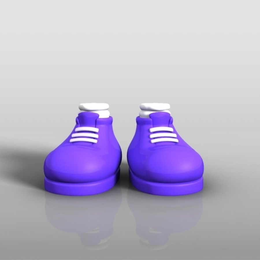 cartoon_shoes royalty-free 3d model - Preview no. 1