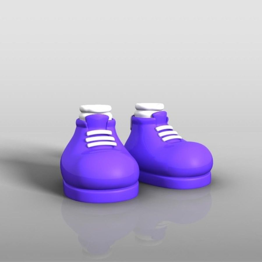 cartoon_shoes royalty-free 3d model - Preview no. 2