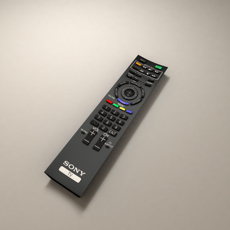 Sony BRAVIA TV Remote Control royalty-free 3d model - Preview no. 2