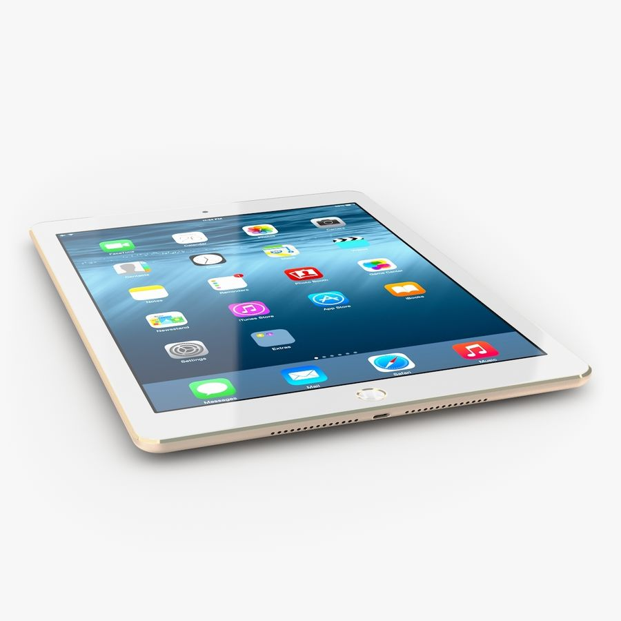 Apple iPad Air 2 royalty-free 3d model - Preview no. 3