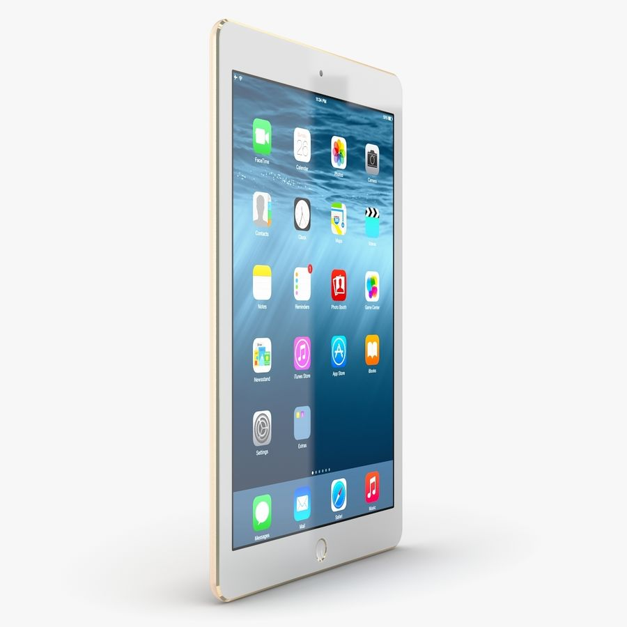Apple iPad Air 2 royalty-free 3d model - Preview no. 12
