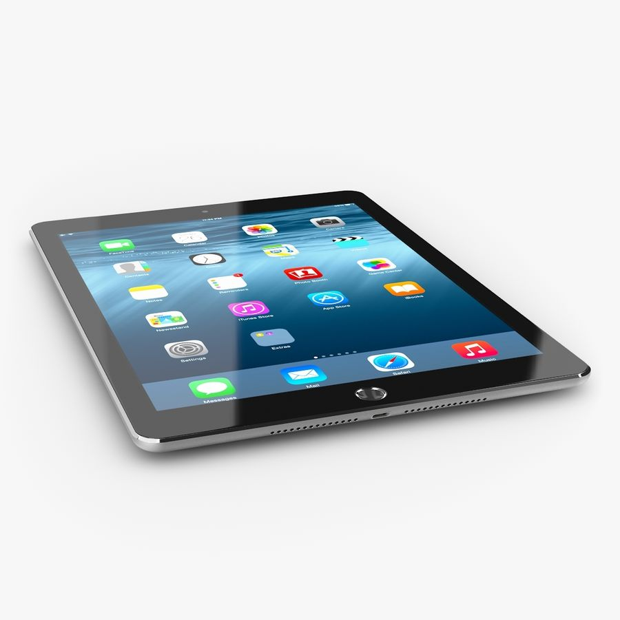 Apple iPad Air 2 royalty-free 3d model - Preview no. 4