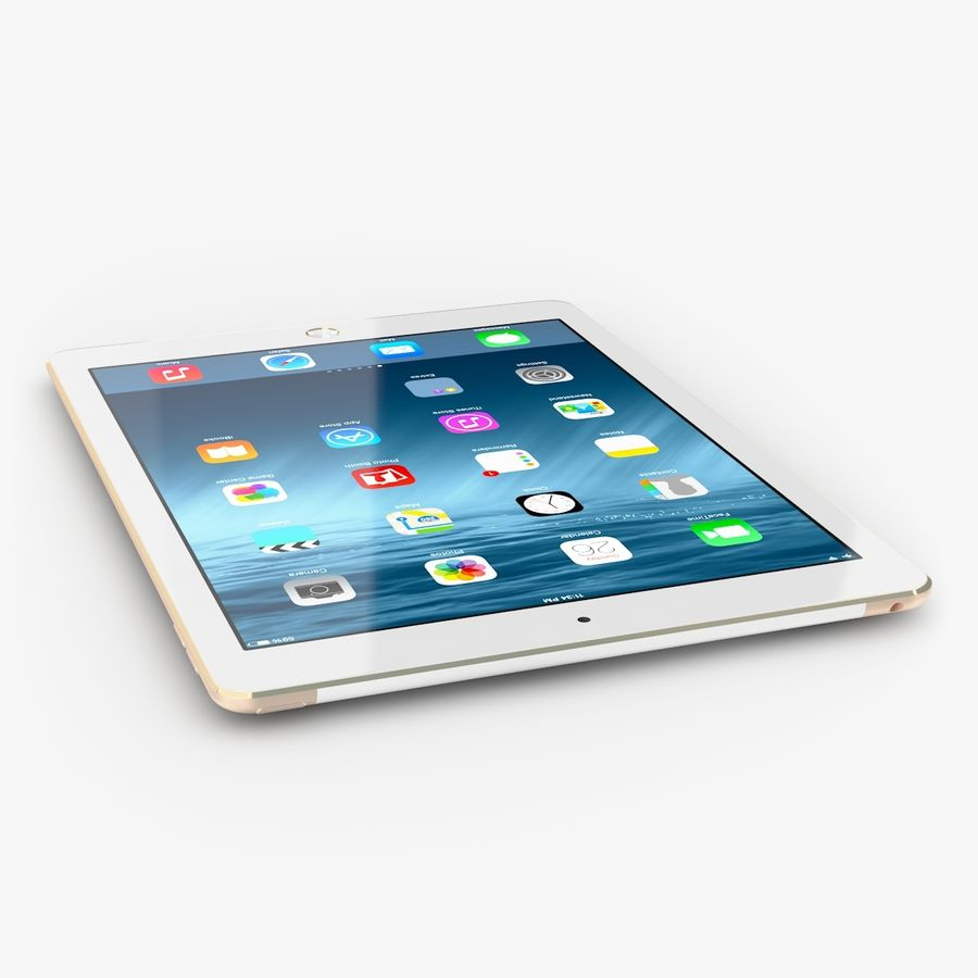 Apple iPad Air 2 royalty-free 3d model - Preview no. 6