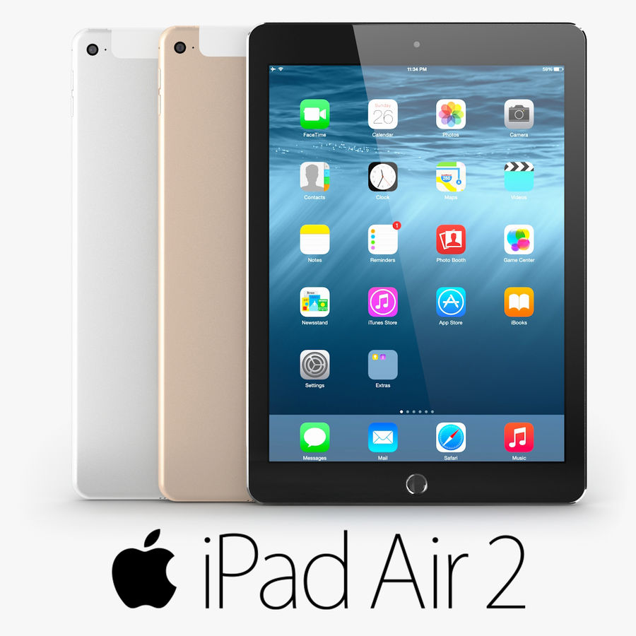 Apple iPad Air 2 royalty-free 3d model - Preview no. 1