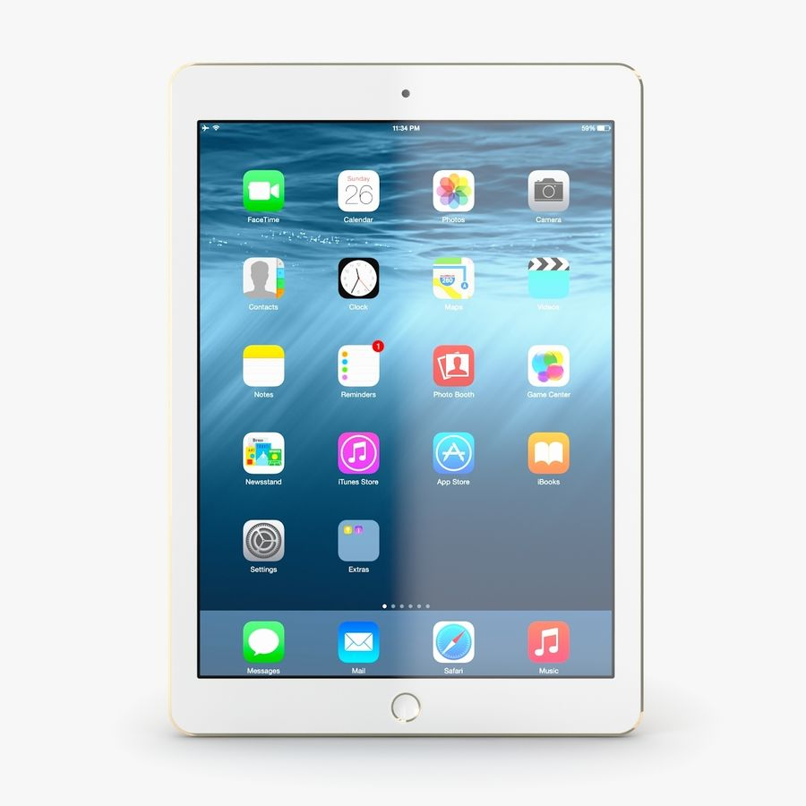 Apple iPad Air 2 royalty-free 3d model - Preview no. 9