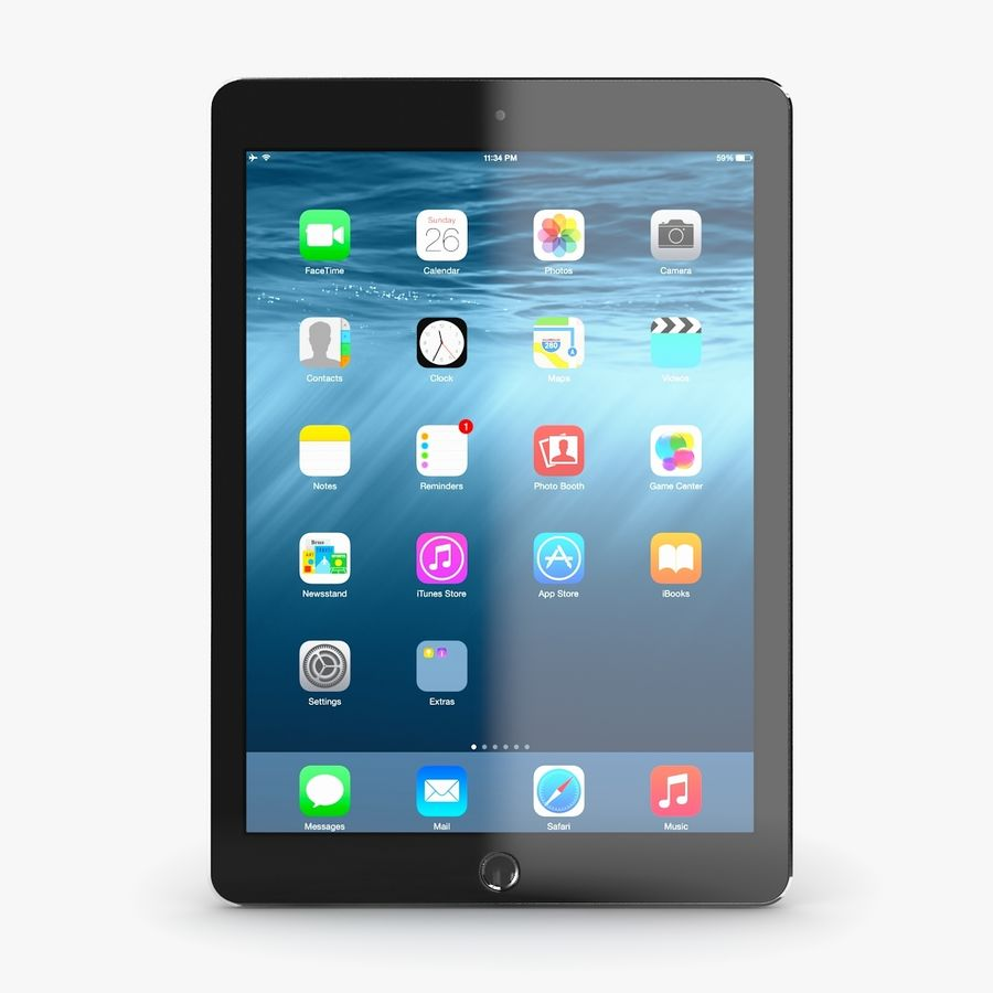 Apple iPad Air 2 royalty-free 3d model - Preview no. 10