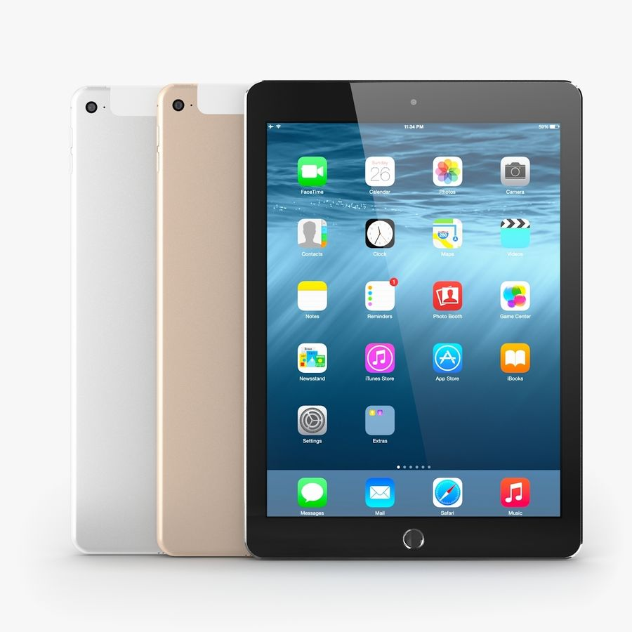 Apple iPad Air 2 royalty-free 3d model - Preview no. 26
