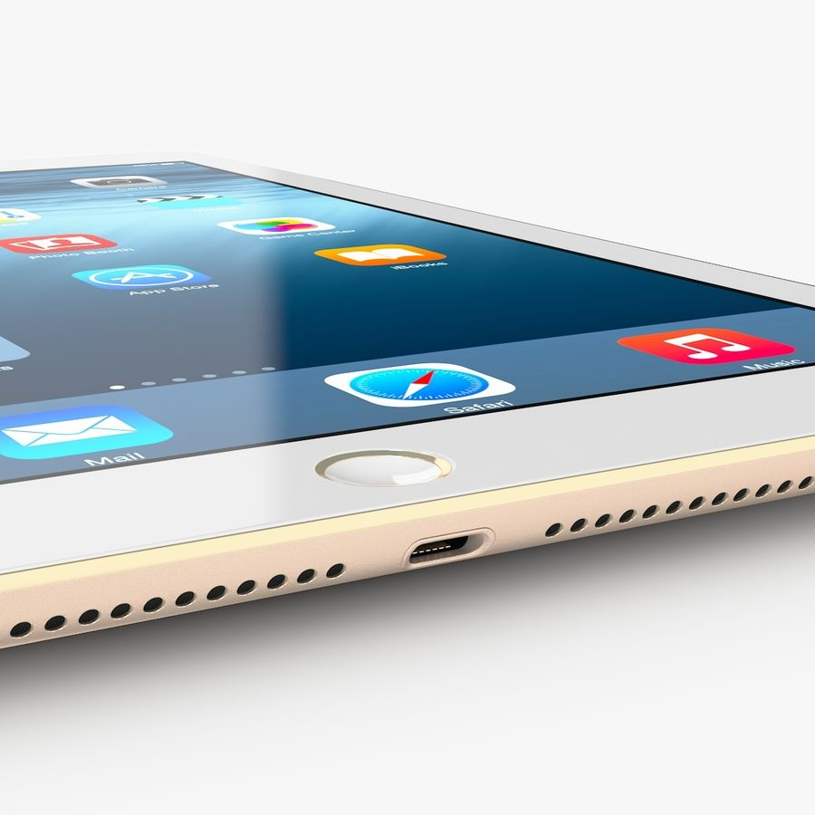 Apple iPad Air 2 royalty-free 3d model - Preview no. 21