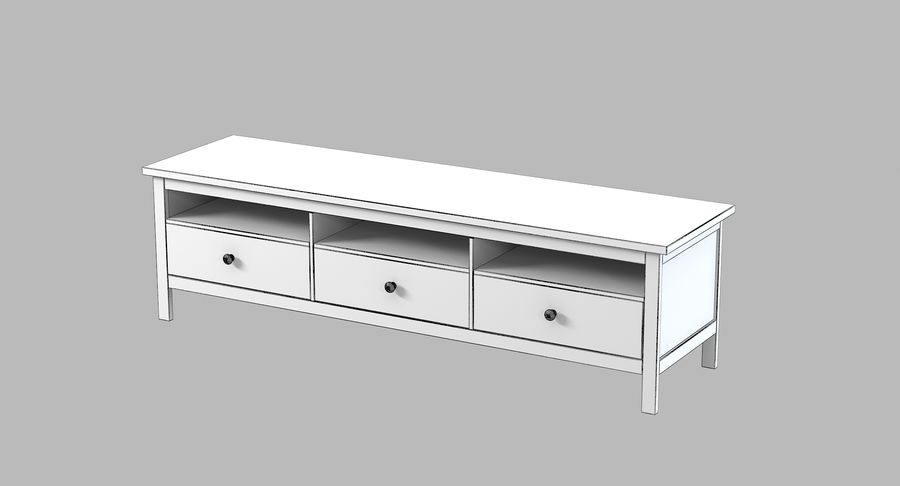 Ikea Hemnes Commode royalty-free 3d model - Preview no. 4