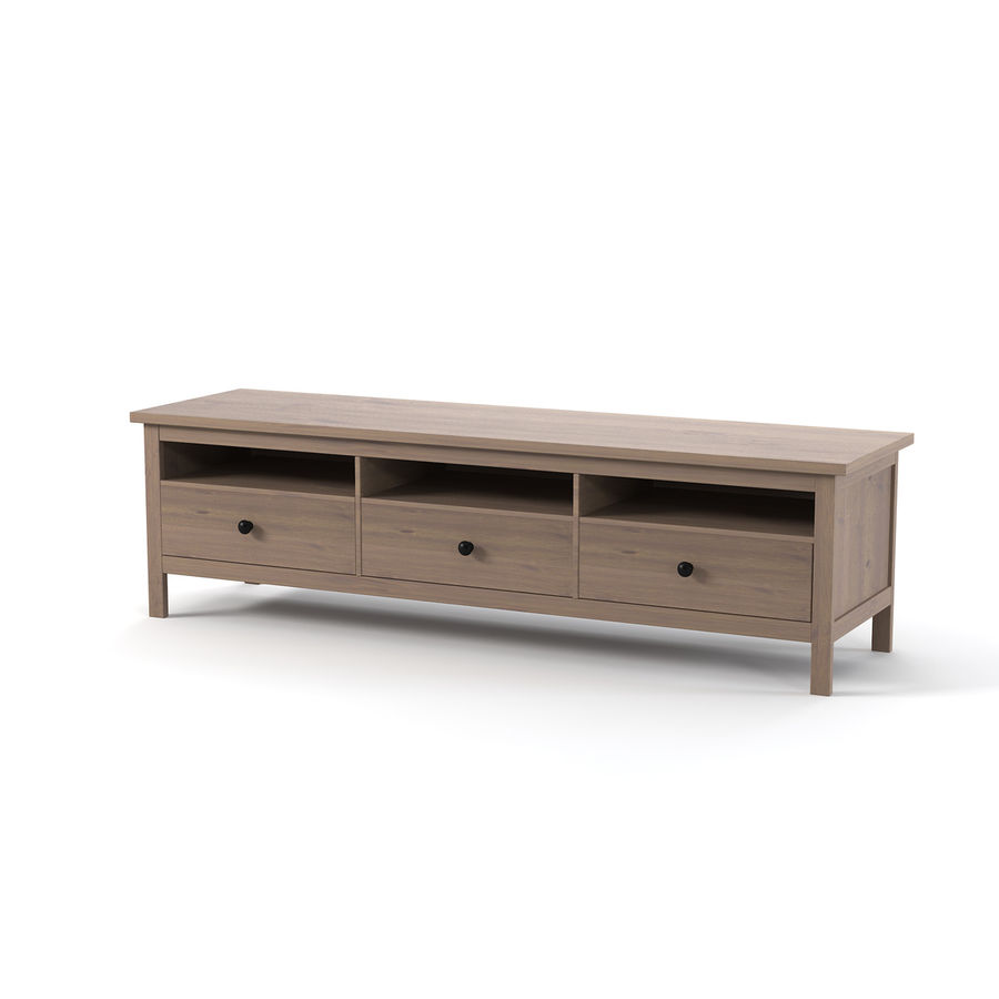Ikea Hemnes Commode royalty-free 3d model - Preview no. 1