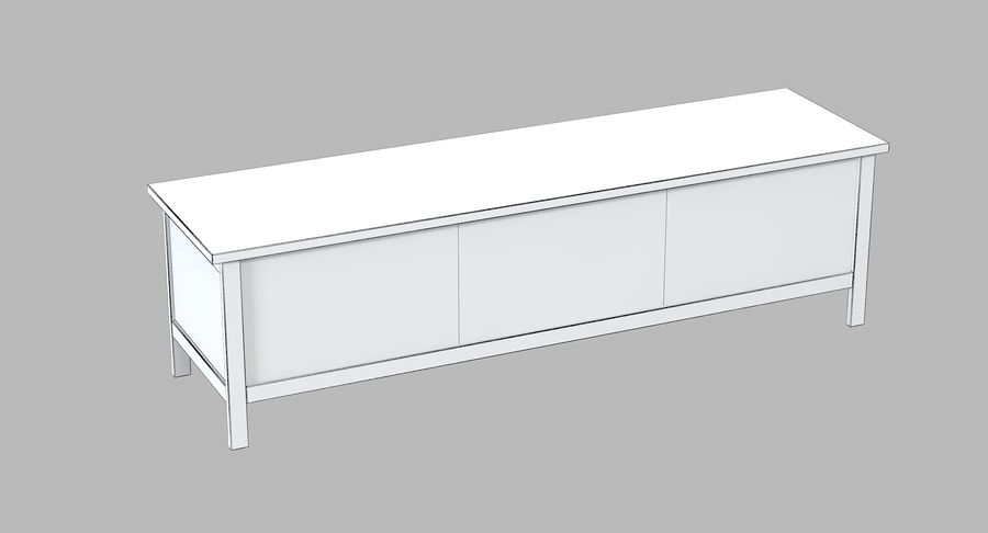 Ikea Hemnes Commode royalty-free 3d model - Preview no. 5