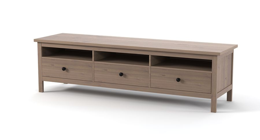 Komoda Ikea Hemnes royalty-free 3d model - Preview no. 6