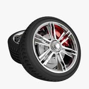 Llanta de la rueda modelo 3d