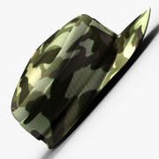 Boné do exército 3d model