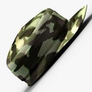 Gorra del ejército modelo 3d