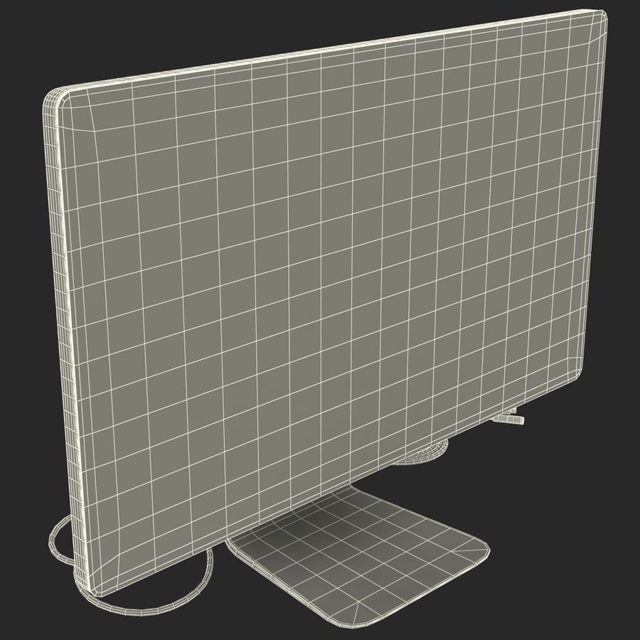 Apple Thunderbolt Display 3D Model royalty-free 3d model - Preview no. 22
