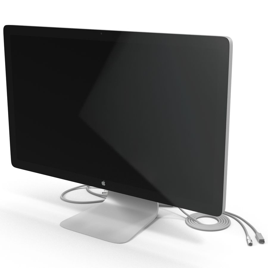 Apple Thunderbolt Display 3D Model royalty-free 3d model - Preview no. 5