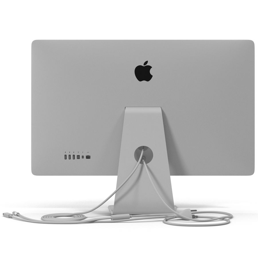 Apple Thunderbolt Display 3D Model royalty-free 3d model - Preview no. 7