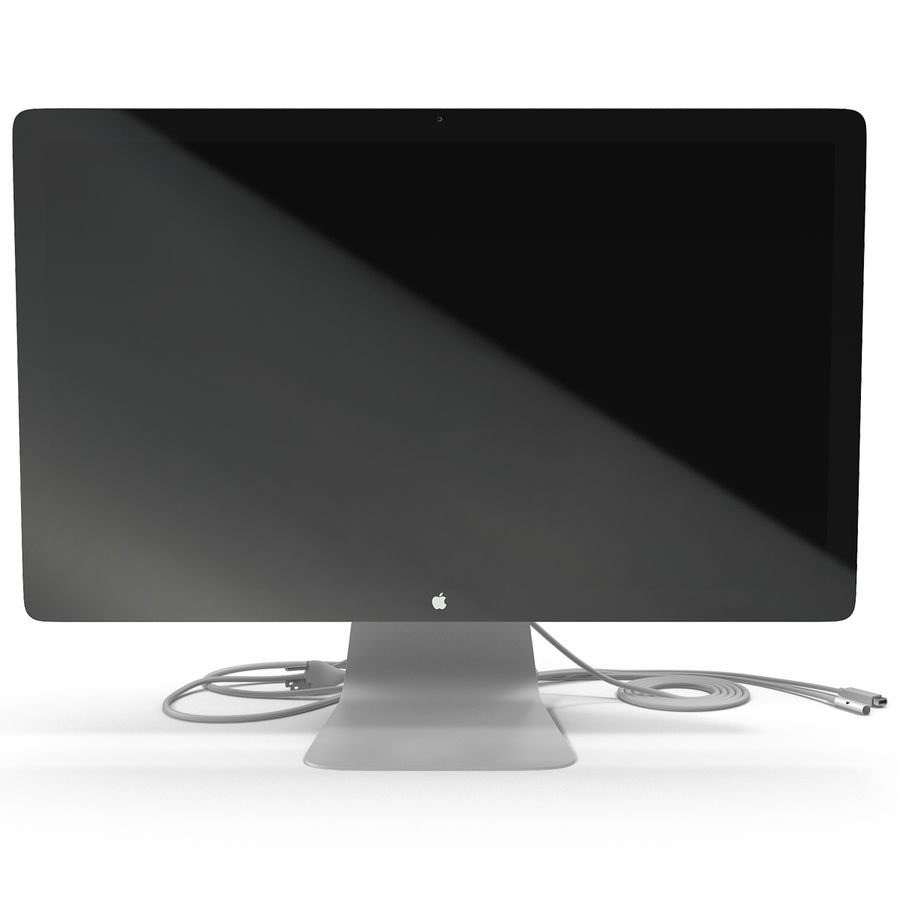 Apple Thunderbolt Display 3D Model royalty-free 3d model - Preview no. 4