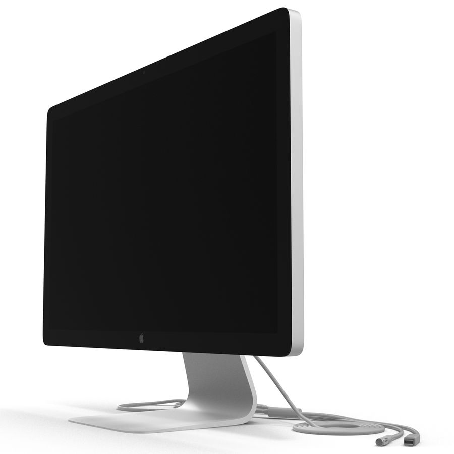 Apple Thunderbolt Display 3D Model royalty-free 3d model - Preview no. 9
