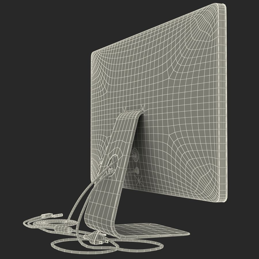 Apple Thunderbolt Display 3D Model royalty-free 3d model - Preview no. 24