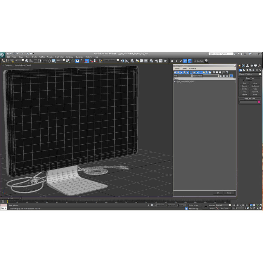 Apple Thunderbolt Display 3D Model royalty-free 3d model - Preview no. 21