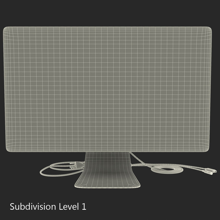 Apple Thunderbolt Display 3D Model royalty-free 3d model - Preview no. 18