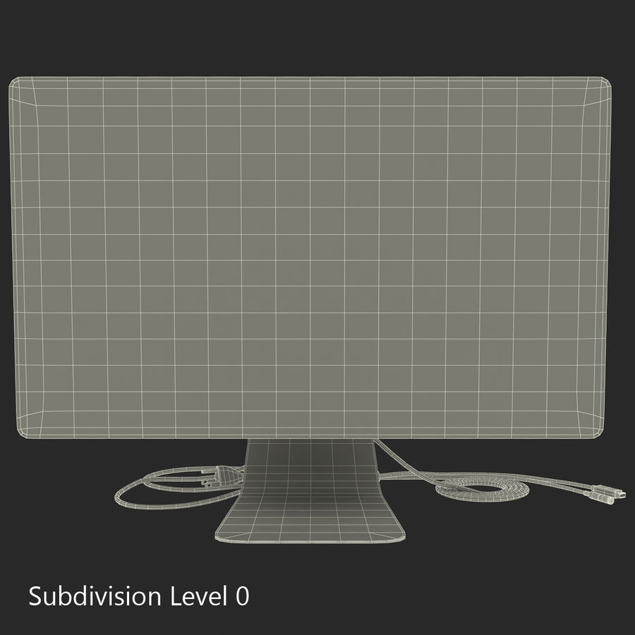Apple Thunderbolt Display 3D Model royalty-free 3d model - Preview no. 17