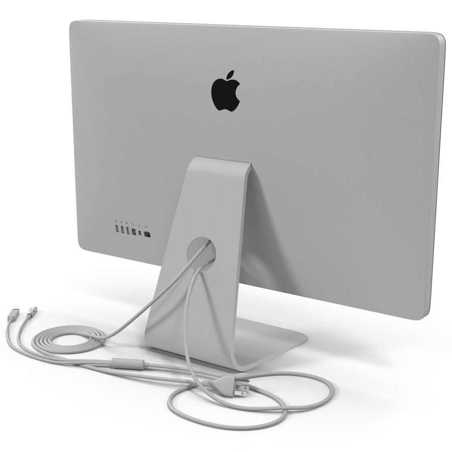 Apple Thunderbolt Display 3D Model royalty-free 3d model - Preview no. 6