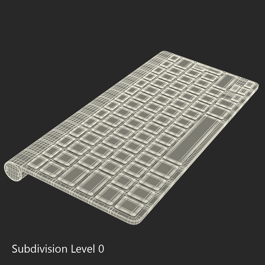 Apple Wireless Keyboard 3D 모델 royalty-free 3d model - Preview no. 16